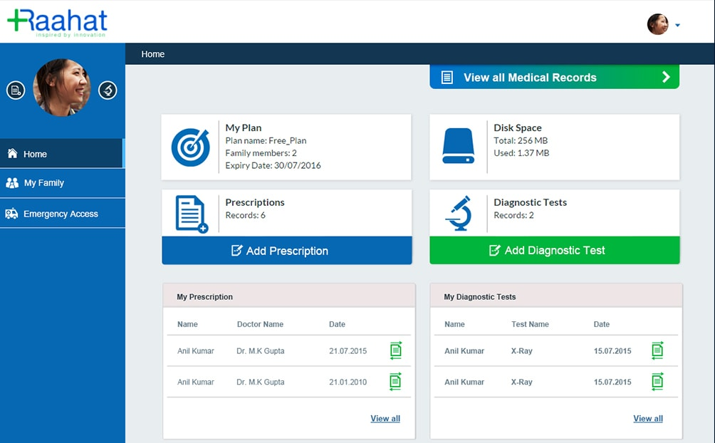 Rahaat (Web Portal)